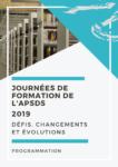 Programme et inscription aux Journées de Formation de l'APSDS 2019